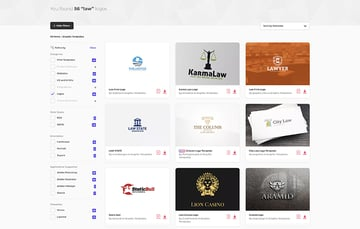 Law firm logo designs on Envato Elements