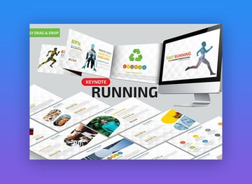 Fast Running -  Sports-Themed Animated Keynote Template