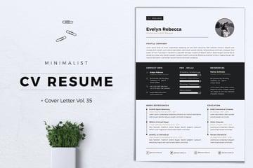 Minimalist CV Resume Vol35