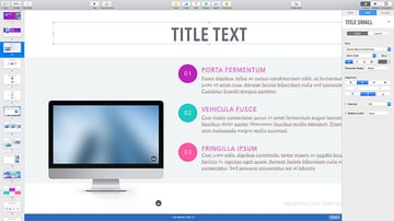Changing the text and fonts