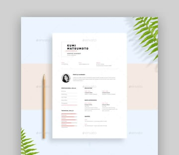 Resume CV - Minimal Basic Resume Template