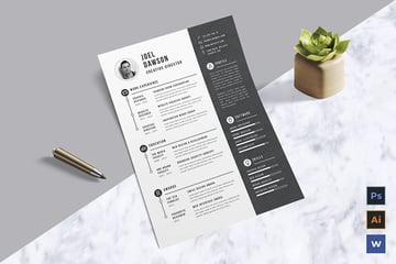 Word Resume Template on Envato Elements