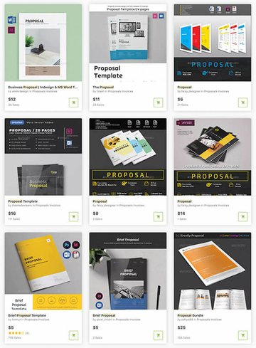 MS Word Proposal Templates on GraphicRiver