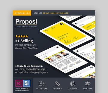 Proposal and Invoice Template - Bright Proposal Template for MS Word