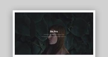 BePro - Einfache Mac Keynote Präsentationsvorlage