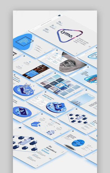 Lymo - Schöne Mac Keynote Präsentationsvorlage