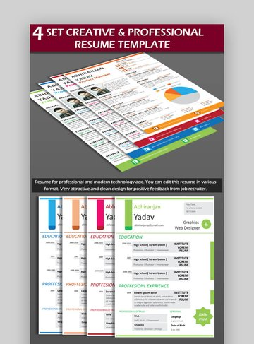 Creative RESUME - Modern Resume With Attractive Design
