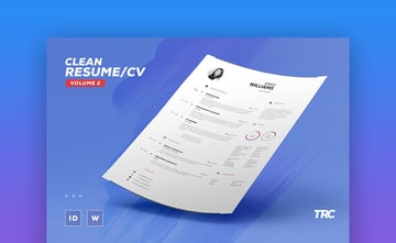 Clean Resume - Minimalist Resume Template for MS Word