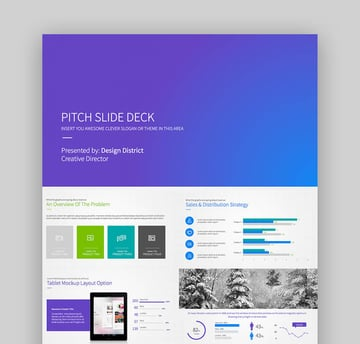 Pitch Deck - Business Plan PowerPoint Template