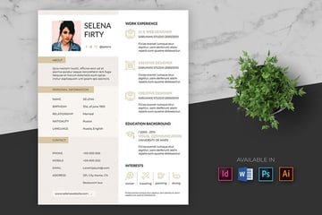 Creative Resume Template Pro