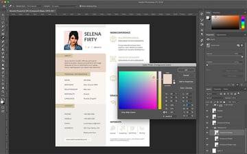 Customize colors in Creative Resume Pro