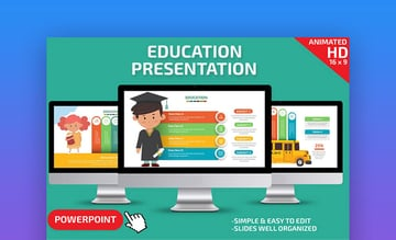 Education PowerPoint Template - Colorful PowerPoint Template for Teachers