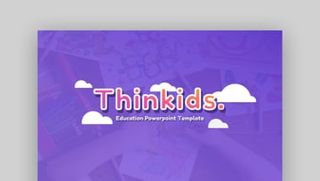 Thinkids PowerPoint Template - Bright Education PowerPoint Template