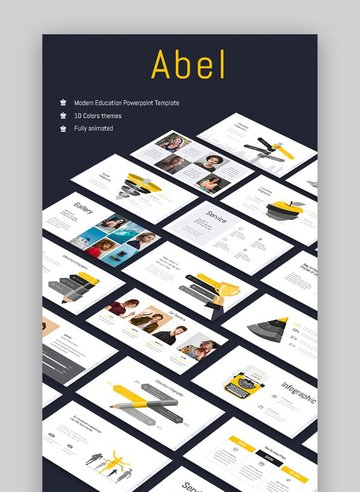 Abel PowerPoint Template - Clean Education PowerPoint Template