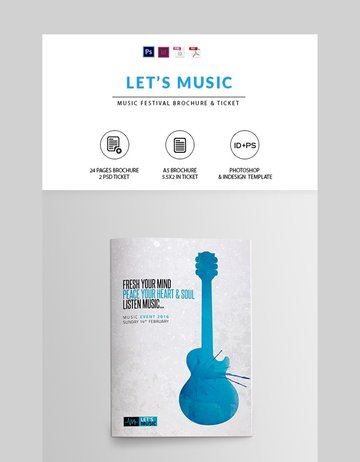 Music Festival Brochure - Photoshop Brochure Template