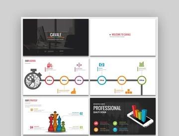 Cavale - Multipurpose PowerPoint Animated Template Design