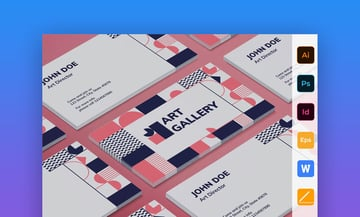 Art Gallery Business Card - Colorful Business Card Template