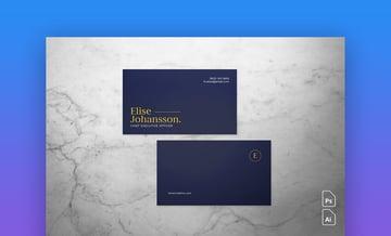 Professional Business Card - Customizable Business Card Design