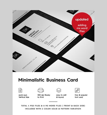 Minimal Modern Business Card - Custom Made Business Card Template