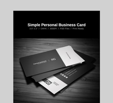 Simple Business Card - Black and White Custom Business Card