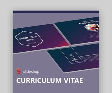 CV Template PowerPoint