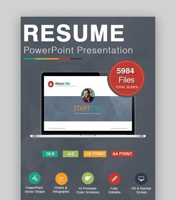 esume PowerPoint - Clean Resume Presentation Slideshow