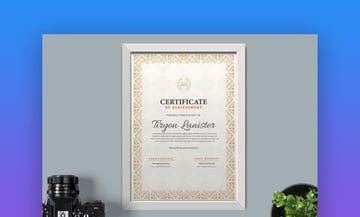 Certificate - Elegant Certificate and Diploma Template
