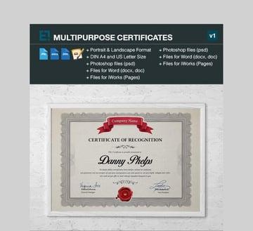 Certificate - Versatile Microsoft Word Certificate Template