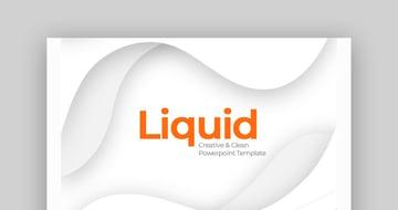Liquid - Clean Custom PowerPoint Slide Design