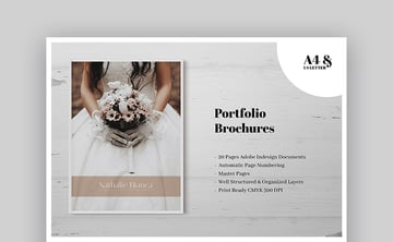 Wedding Photography Portfolio Brochure - Elegant Brochure Design