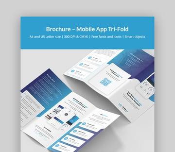 Brochure - Modern Mobile App Brochure Template