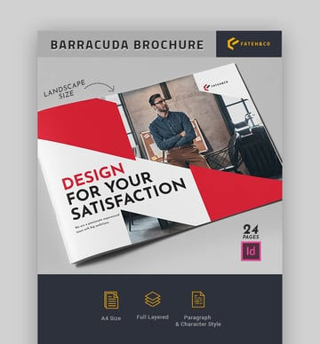 Barracuda Brochure - Landscape Brochure Template Design