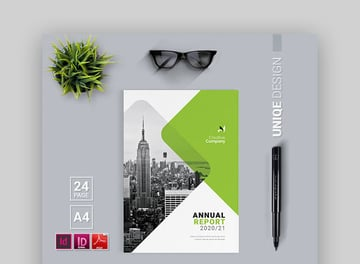 Annual Report - Simple Annual Report Template In InDesign