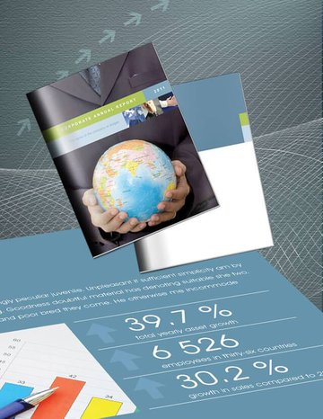 Free Annual Report Template for InDesign