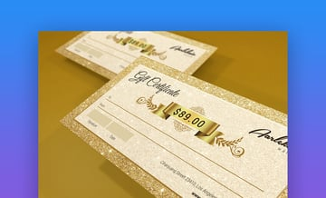 Elegant Gift Certificate - Photoshop Template