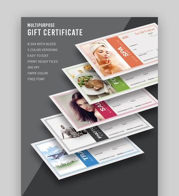 Gift Certificate - Multipurpose Template