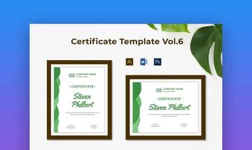 Certificate Template Vol6 - Modern and Fresh Google Docs Certificate Template