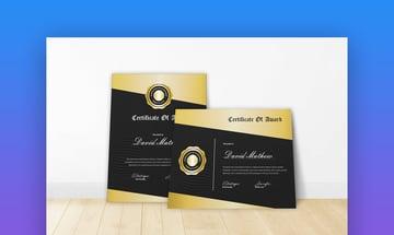 Certificate 9 - Elegant Gold Certificate Template for Google Docs