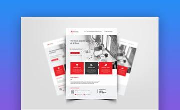 Business Flyer 041  Minimalist Informational Template