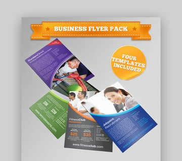 Four Business Corporate Flyers  Informational Flyer Template Bundle