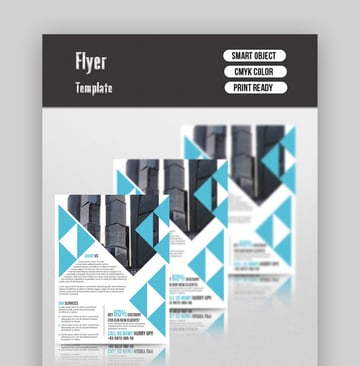 Corporate Flyer  Minimalist Information Layout Template
