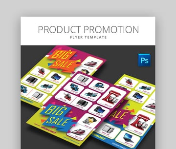 Product Promotion Colorful Product Flyer Design Template