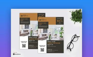 Royal Furniture Product Leaflet Design Template