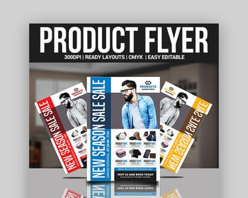 Trendy Product Flyer Design Template