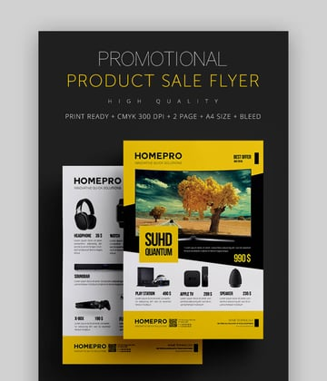 Promotional Product Flyer Example