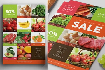 Supermarket Product Flyer Example