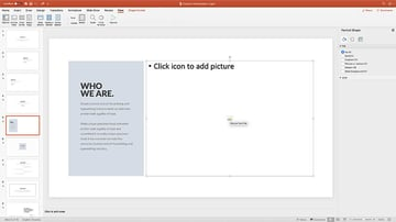 Contain Simple Presentation Template Choosing images