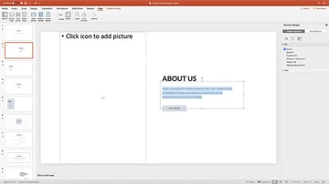 Contain Simple Presentation Template Replacing content