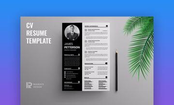 Minimalist CV Resume R40