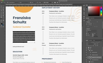 Replace information in CV Resume template